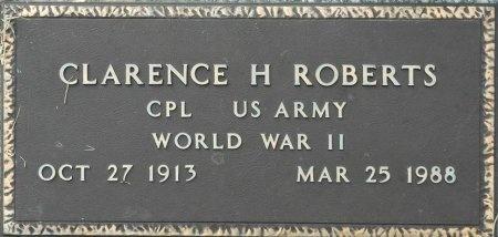 ROBERTS (VETERAN WWII), CLARENCE H. - Davidson County, Tennessee | CLARENCE H. ROBERTS (VETERAN WWII) - Tennessee Gravestone Photos