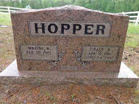HOPPER, GRADY W - Decatur County, Tennessee | GRADY W HOPPER - Tennessee Gravestone Photos