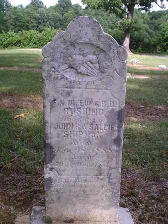 RUSHING, E.M. - Decatur County, Tennessee | E.M. RUSHING - Tennessee Gravestone Photos