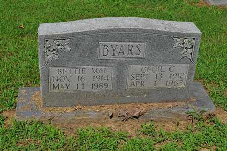 BYARS, BETTIE MAI - Fayette County, Tennessee | BETTIE MAI BYARS - Tennessee Gravestone Photos