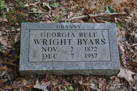 WRIGHT BYARS, GEORGIA BELL - Fayette County, Tennessee | GEORGIA BELL WRIGHT BYARS - Tennessee Gravestone Photos