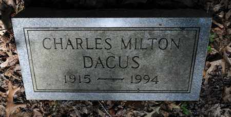 DACUS, CHARLES MILTON - Fayette County, Tennessee   CHARLES MILTON DACUS - Tennessee Gravestone Photos