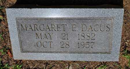 DACUS, MARGARET E. - Fayette County, Tennessee | MARGARET E. DACUS - Tennessee Gravestone Photos