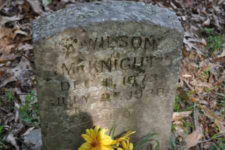 MCKNIGHT, A. WILSON - Fayette County, Tennessee | A. WILSON MCKNIGHT - Tennessee Gravestone Photos