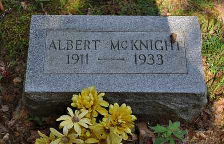 MCKNIGHT, ALBERT - Fayette County, Tennessee | ALBERT MCKNIGHT - Tennessee Gravestone Photos
