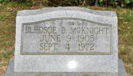 MCKNIGHT, BLEDSOE B. - Fayette County, Tennessee   BLEDSOE B. MCKNIGHT - Tennessee Gravestone Photos