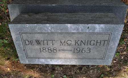 MCKNIGHT, DEWITT - Fayette County, Tennessee | DEWITT MCKNIGHT - Tennessee Gravestone Photos