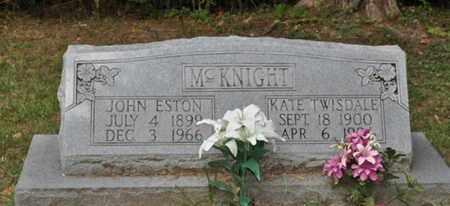 MCKNIGHT, KATE TWISDALE - Fayette County, Tennessee | KATE TWISDALE MCKNIGHT - Tennessee Gravestone Photos