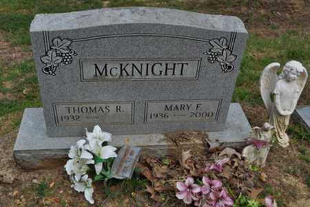 MCKNIGHT, MARY F. - Fayette County, Tennessee | MARY F. MCKNIGHT - Tennessee Gravestone Photos