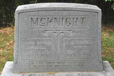 MCKNIGHT, LEONA - Fayette County, Tennessee | LEONA MCKNIGHT - Tennessee Gravestone Photos