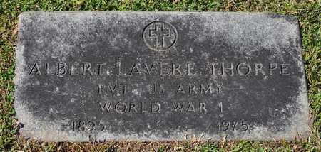 THORPE  (VETERAN WWI), ALBERT LAVERE - Fayette County, Tennessee | ALBERT LAVERE THORPE  (VETERAN WWI) - Tennessee Gravestone Photos