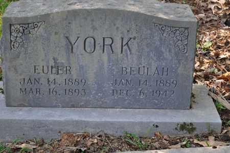 YORK, EULER - Fayette County, Tennessee | EULER YORK - Tennessee Gravestone Photos