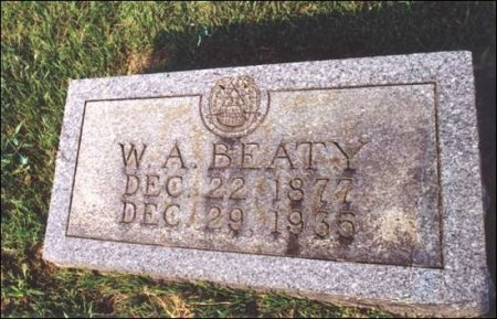 BEATY, WILLIAM ANDREW - Fentress County, Tennessee | WILLIAM ANDREW BEATY - Tennessee Gravestone Photos