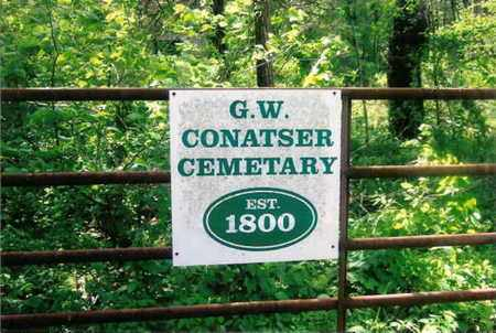 *G. W. CONATSER CEMETERY SIGN,  - Fentress County, Tennessee |  *G. W. CONATSER CEMETERY SIGN - Tennessee Gravestone Photos