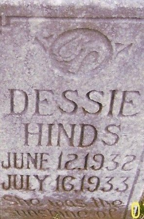 HINDS, DESSIE - Fentress County, Tennessee | DESSIE HINDS - Tennessee Gravestone Photos