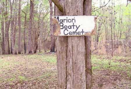 *MARION BEATY CEMETERY SIGN,  - Fentress County, Tennessee |  *MARION BEATY CEMETERY SIGN - Tennessee Gravestone Photos