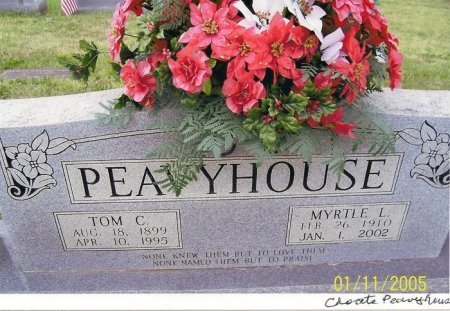 CHOATE PEAVYHOUSE, MYRTLE L. - Fentress County, Tennessee | MYRTLE L. CHOATE PEAVYHOUSE - Tennessee Gravestone Photos