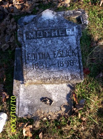 ESLICK, EDITHA E - Franklin County, Tennessee | EDITHA E ESLICK - Tennessee Gravestone Photos