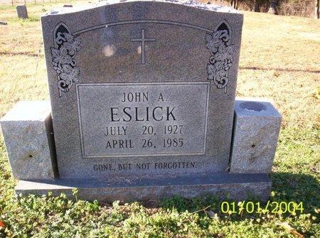 ESLICK, JOHN A. - Franklin County, Tennessee | JOHN A. ESLICK - Tennessee Gravestone Photos