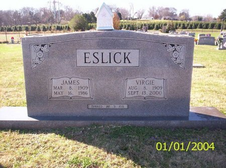 ESLICK, VIRGIE MAE - Franklin County, Tennessee | VIRGIE MAE ESLICK - Tennessee Gravestone Photos