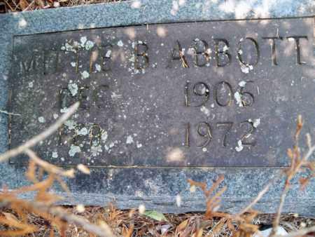 ABBOTT, MITTIE B - Gibson County, Tennessee   MITTIE B ABBOTT - Tennessee Gravestone Photos