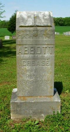 ABBOTT, CREASE - Gibson County, Tennessee | CREASE ABBOTT - Tennessee Gravestone Photos