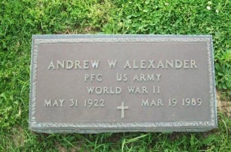 ALEXANDER (VETERAN WWII), ANDREW W. - Gibson County, Tennessee   ANDREW W. ALEXANDER (VETERAN WWII) - Tennessee Gravestone Photos