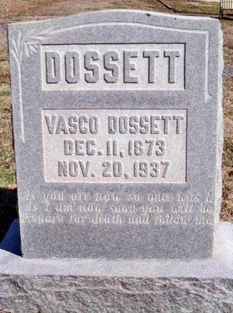 DOSSETT, VASCO - Gibson County, Tennessee   VASCO DOSSETT - Tennessee Gravestone Photos