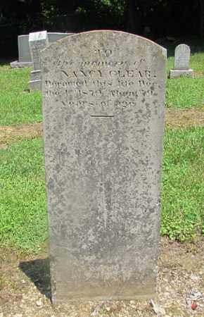 CLEAR, NANCY - Giles County, Tennessee | NANCY CLEAR - Tennessee Gravestone Photos