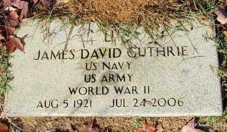 GUTHRIE  (VETERAN WWII), JAMES DAVID - Giles County, Tennessee | JAMES DAVID GUTHRIE  (VETERAN WWII) - Tennessee Gravestone Photos