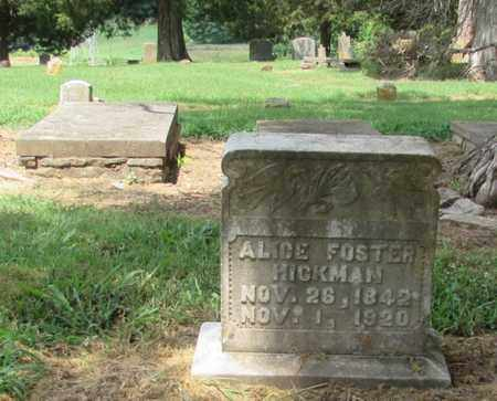 HICKMAN, ALICE FOSTER - Giles County, Tennessee   ALICE FOSTER HICKMAN - Tennessee Gravestone Photos