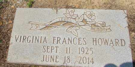 HOWARD, VIRGINIA FRANCES - Giles County, Tennessee | VIRGINIA FRANCES HOWARD - Tennessee Gravestone Photos