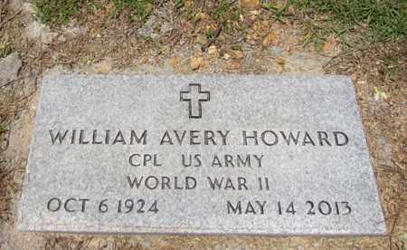 HOWARD (VETERAN WWII), WILLIAM AVERY - Giles County, Tennessee | WILLIAM AVERY HOWARD (VETERAN WWII) - Tennessee Gravestone Photos