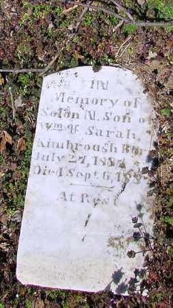 KIMBROUGH, SOLAN M. - Giles County, Tennessee | SOLAN M. KIMBROUGH - Tennessee Gravestone Photos