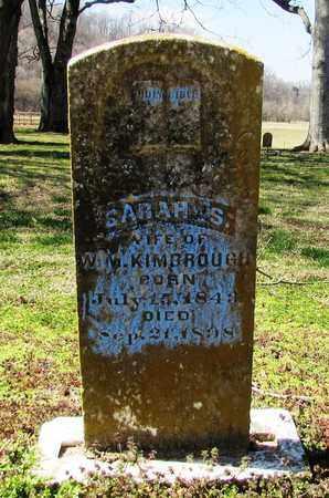 KIMBROUGH, SARAH - Giles County, Tennessee | SARAH KIMBROUGH - Tennessee Gravestone Photos