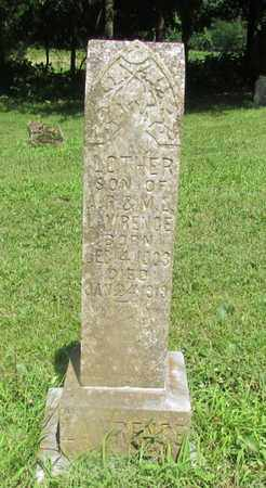 LAWRENCE, LOTHER - Giles County, Tennessee | LOTHER LAWRENCE - Tennessee Gravestone Photos