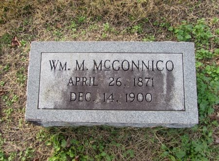 MCCONNICO, WILLIAM M - Giles County, Tennessee | WILLIAM M MCCONNICO - Tennessee Gravestone Photos