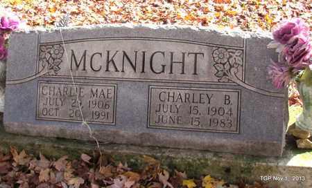 MCKNIGHT, CHARLEY B - Giles County, Tennessee | CHARLEY B MCKNIGHT - Tennessee Gravestone Photos