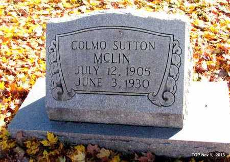 MCLIN, COLMO SUTTON - Giles County, Tennessee   COLMO SUTTON MCLIN - Tennessee Gravestone Photos