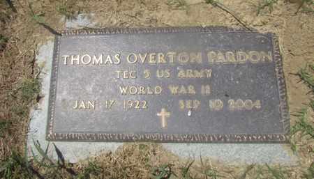 PARDON  (VETERAN WWII), THOMAS OVERTON - Giles County, Tennessee | THOMAS OVERTON PARDON  (VETERAN WWII) - Tennessee Gravestone Photos