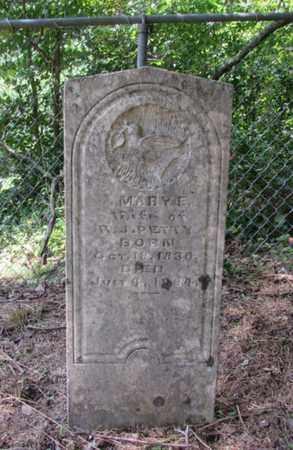 PETTY, MARY E. - Giles County, Tennessee | MARY E. PETTY - Tennessee Gravestone Photos