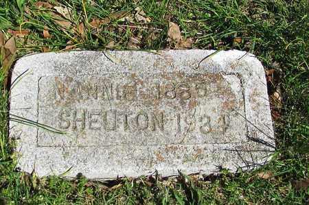 SHELTON, NANNIE - Giles County, Tennessee | NANNIE SHELTON - Tennessee Gravestone Photos