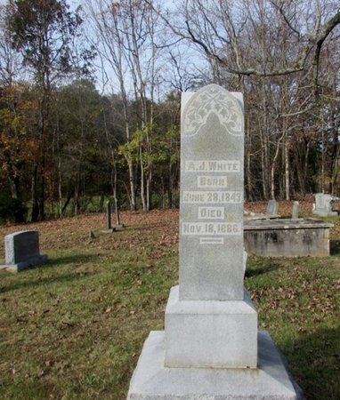 WHITE, A. J. - Giles County, Tennessee | A. J. WHITE - Tennessee Gravestone Photos