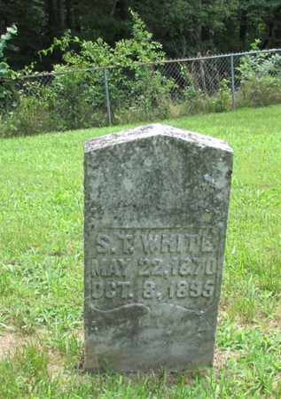 WHITE, S. T. - Giles County, Tennessee | S. T. WHITE - Tennessee Gravestone Photos