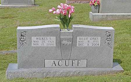 OAKS ACUFF, BILLIE - Grainger County, Tennessee | BILLIE OAKS ACUFF - Tennessee Gravestone Photos