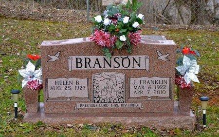 BRANSON, J. FRANKLIN - Grainger County, Tennessee | J. FRANKLIN BRANSON - Tennessee Gravestone Photos
