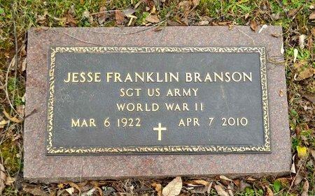 BRANSON (VETERAN WWII), JESSE FRANKLIN - Grainger County, Tennessee | JESSE FRANKLIN BRANSON (VETERAN WWII) - Tennessee Gravestone Photos