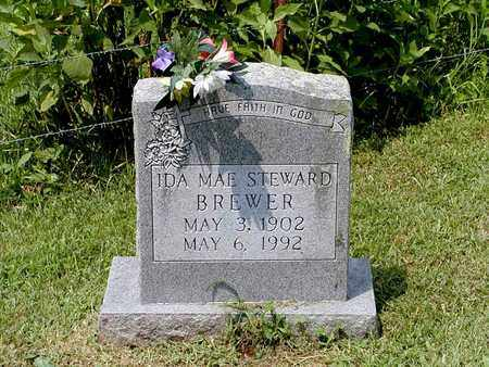STEWARD BREWER, IDA MAE - Grainger County, Tennessee | IDA MAE STEWARD BREWER - Tennessee Gravestone Photos