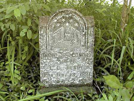 CONDRY HENRY, ANGIE H. - Grainger County, Tennessee | ANGIE H. CONDRY HENRY - Tennessee Gravestone Photos