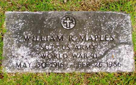 MAPLES  (VETERAN WWII), WILLIAM R - Grainger County, Tennessee | WILLIAM R MAPLES  (VETERAN WWII) - Tennessee Gravestone Photos